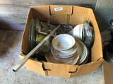 2 random Boxes with china and assorted kitchen items
