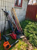 Lot of yard equipment