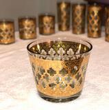 Valencia 22-Karat Gold Moroccan Themed Vintage Ice Bowl