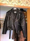 Ladies Black Leather Coat