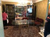 Contemporary Glass Dining Room Table 6 Chairs