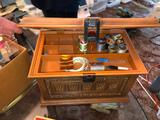 Vintage Sewing Box with Kenmore Buttonhole Attachment Kit