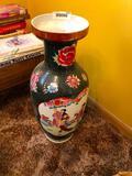 Tall Asian Inspired Vase