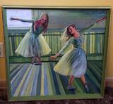 Dual Balarinas Painting