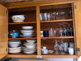 Miscellaneous kitchen items in cupboard