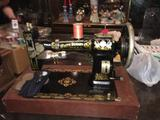 Vintage White Rotary Sewing Machine FR 2569655