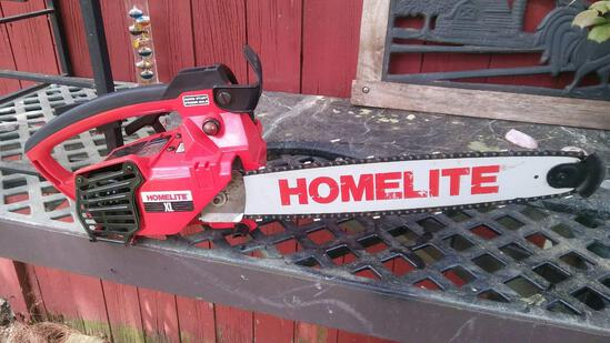 Homelite Chainsaw. Used once.