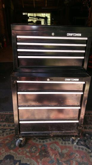 Craftsman Black Rolling double toolbox