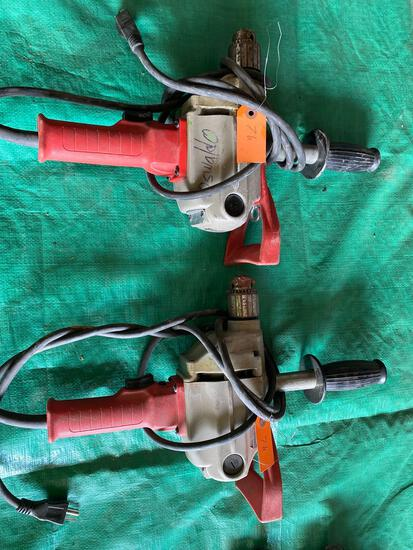 (2) Milwaukee 1/2 in Compact Hole Shooters Drills