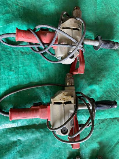 (2) Milwaukee 1/2 in Compact Hole Shooter drills