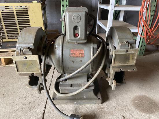 Standard Tool & Electric Co Industrial Dual Bench Grinder