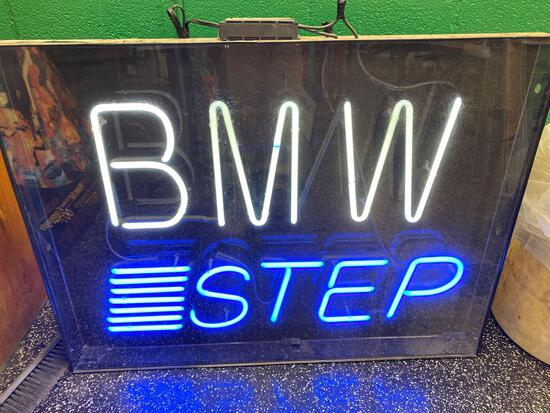 BMW STEP Neon Sign 48 in wide x 35 in tall