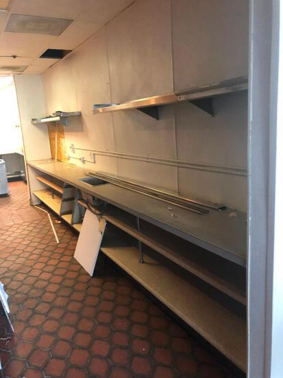 Entire Line with Stainless Steel Shelves & Fixtures