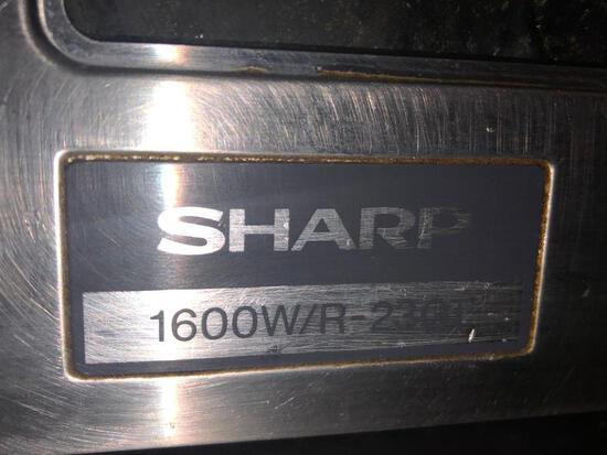 Sharp Commercial Microwave Oven with Touch Pad Model # R-23GT