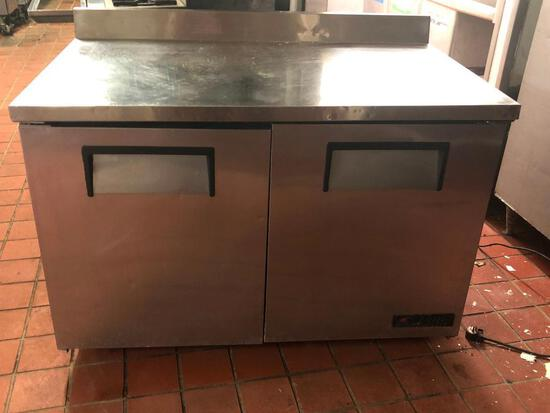"""True 2 Door 48"""" Worktop Refrigerator"""