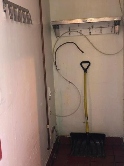 Stainless Steel Shelf, Shovel, Fire Hydrant & Broom Holder - SEE PICTURES