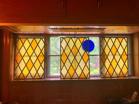 Stain glass Panels X 3