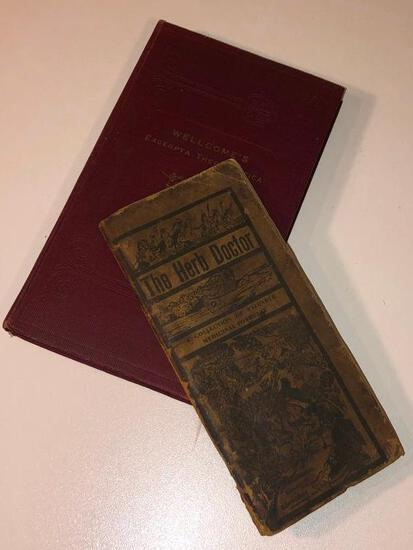 Very Rare Wellcome's Excerpta Therapeutica...& Revised 7th Edition of the Herb Doctor by Joseph Meye