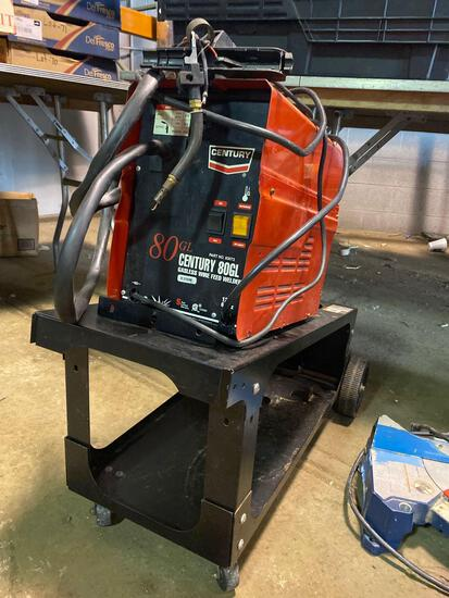 Century Model 80GL 110v Gasless Wire Feed Welder w/ Cart