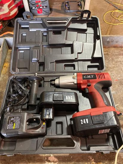 CMT 24v Cordless Impact w/ case and 2 batteries