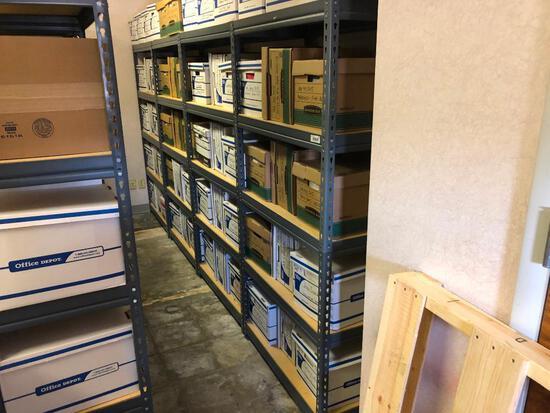 (4) Sections of Light...Duty 5 Shelf Office/Warehouse Racking