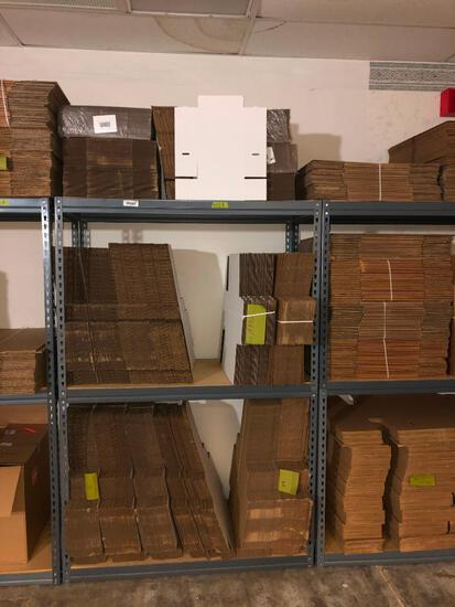 Contents of Industrial Shelf- Flat Cardboard Boxes