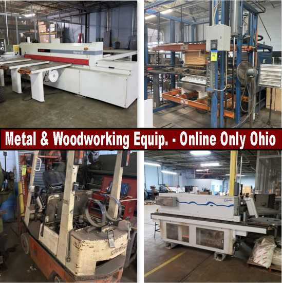 Metal, Plastic & Woodworking Equipment & Machines