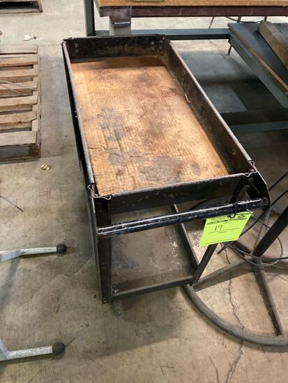 2 tier rolling hardware cart. 30 x 16 inches