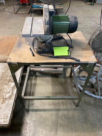 Model DS-12A disc sander, works, cord has been repaired, comes with table/stand