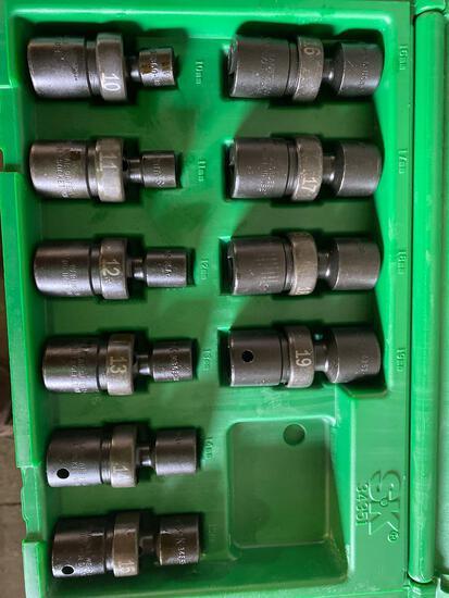 New in box S&K 10 piece swivel sockets 10mm-19mm. 1/2 in drive