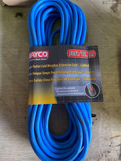 New Bayco 50ft extension cord
