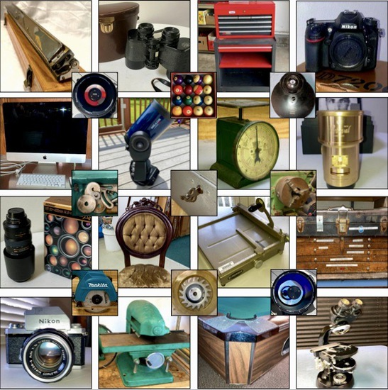 1000+ Lots-Photography, Astronomy, Woodwork, Tools