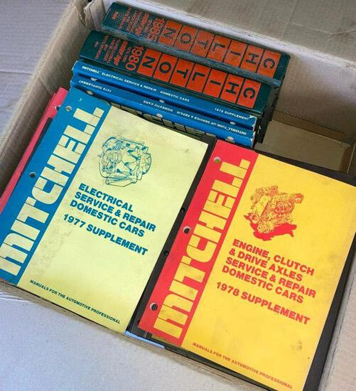 Vintage Car Manuals from Mitchell & Chilton