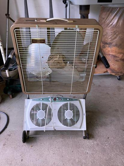 Toastmaster Adjustable Box Fan & Holmes Window Fan