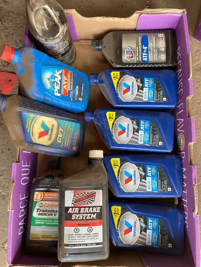 Assorted box of transmission fluids and gear oil