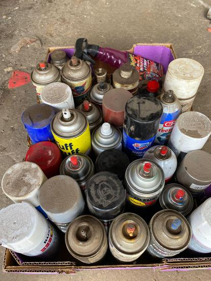 Assorted spray paint, anti seize lubes and more