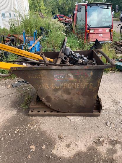 Self Dumping Forklift Hopper