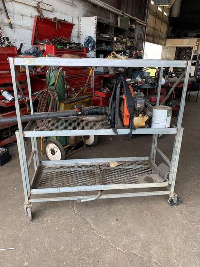 3 tier folding cart on wheels