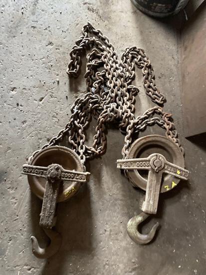Vintage Craftsman 2000 lb Chain Hoist