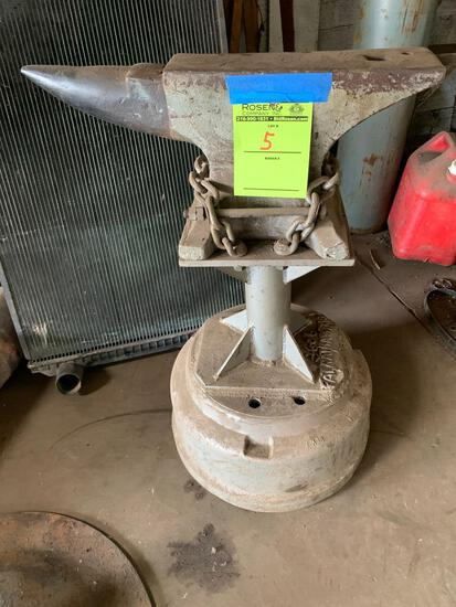 Anvil on a stand