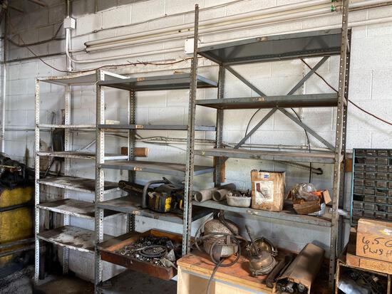 3 metal shelves-no contents.
