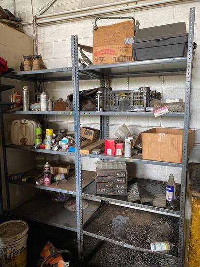 2 metal shelves- no contents