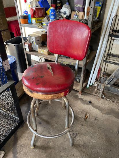 Vintage Adjustable Shop Stool