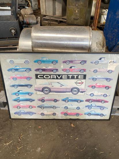 Framed Corvette 1953-1982 (Over The Years) Poster