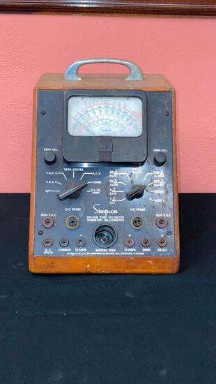 Antique Simpson Vacuum Tube Voltmeter 266
