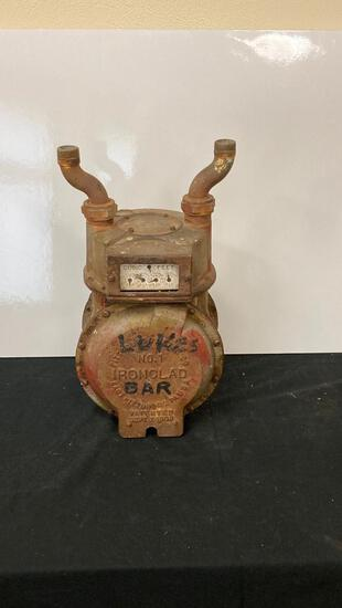 """Luke's Bar"" Vintage Gas Meter with ""Horns"""