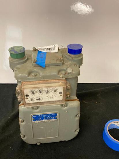 Vintage American Meter Company - Singer Division AC-175 Gas Meter