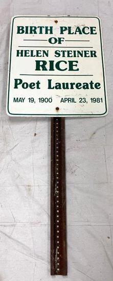 Helen Steiner Rice Birthplace Sign