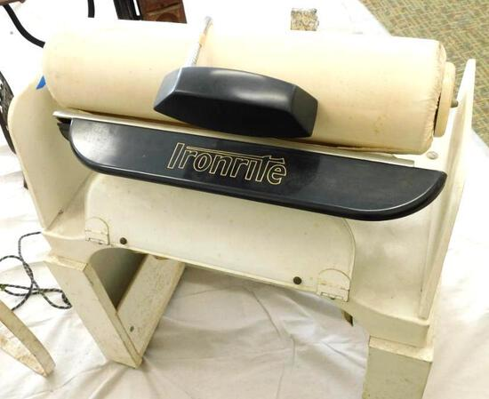 Vintage Ironrite Model 95 Automatic Ironer with Accompanying Chair