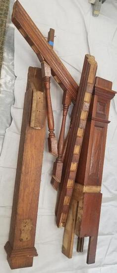 Pieces from an Antique Wooden Banister...